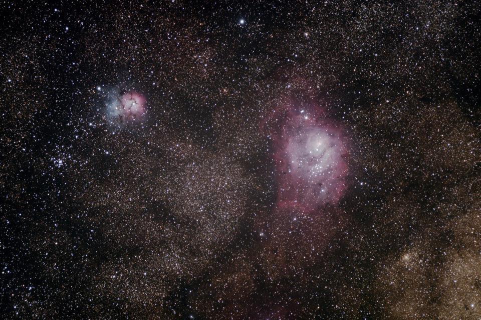 【いて座】 M8 干潟星雲 / M20 三裂星雲